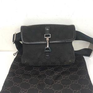 Authentic Gucci waist bag fanny pack black…